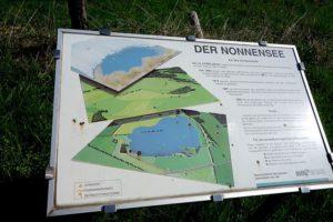 Schautafel am Nonnensee